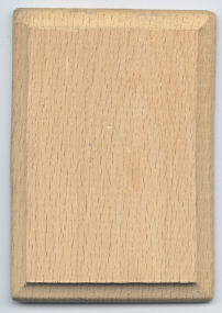 Mini Hardwood Plaque -  2-1/2 x 3-1/2 inch by 1/4 inch thick - 12 pieces