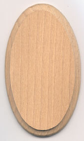 Mini Hardwood Plaque - 2-1/2 x 4-1/4 inch. by 1/4 inch thick - 12 pieces