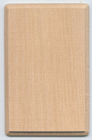 Mini Hardwood Plaque - 3-1/2 x 5-1/4 inch. by1/4 inch thick - 12 pieces