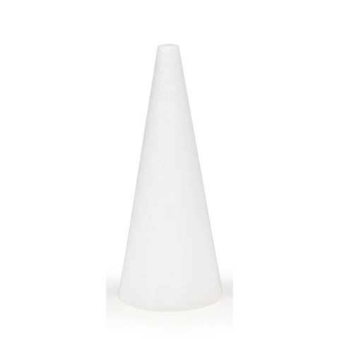 STYROFOAM® Cone - White - 12 x 5 inches