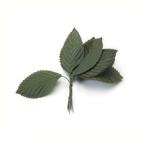Large Rose Leaf - Green - 1-1/2 x 3 inches - 12 pieces