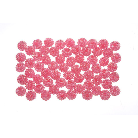 Acrylic Berry Beads - Transparent Light Rose AB - 15mm