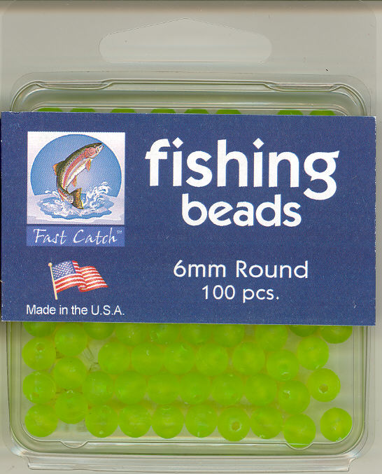 04-2012 Fishing Beads - Frost Green - 6mm - 100 pieces