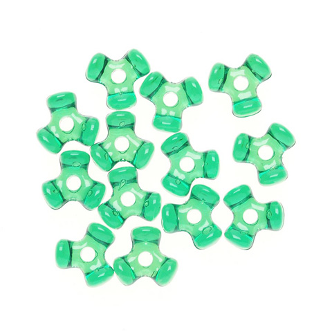Tri-Beads - Transparent Christmas Green - 11mm - 1000 pieces