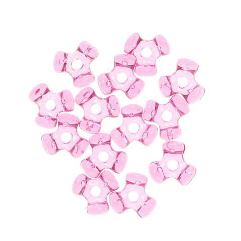 Tri-Beads - Transparent Hot Pink - 11mm