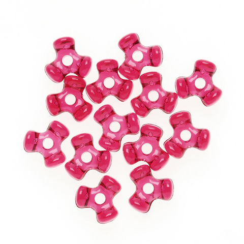 Tri-Beads - Transparent Christmas Red - 11mm