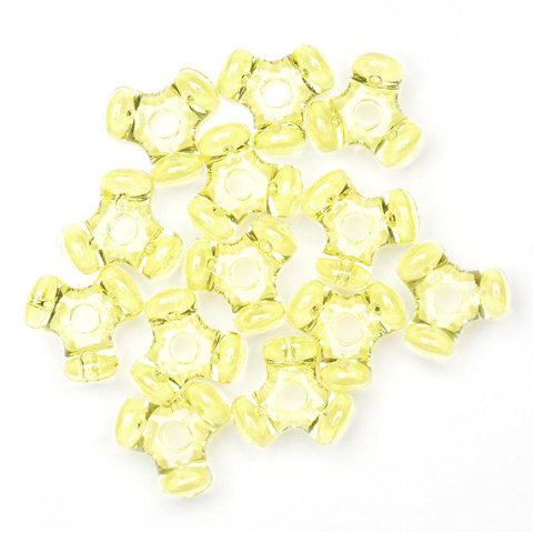Tri-Beads - Transparent Yellow - 11mm - 1000 pieces