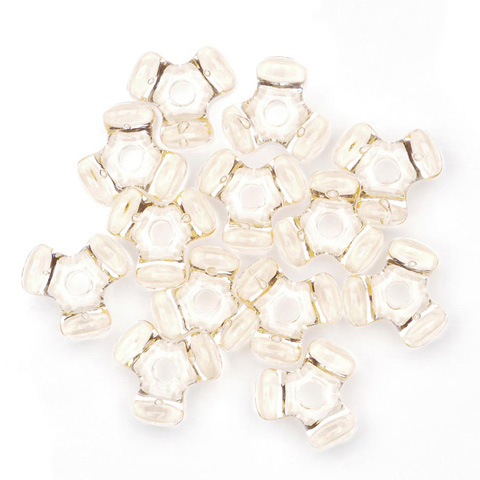 Tri-Beads - Transparent Champagne - 11mm