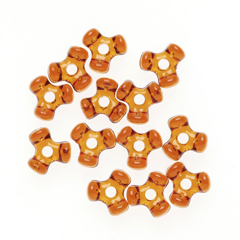 Tri-Beads - Transparent Root Beer - 11mm - 1000 pieces