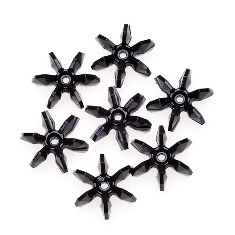 Starflake Beads - Opaque Black - 18mm - 500 pieces
