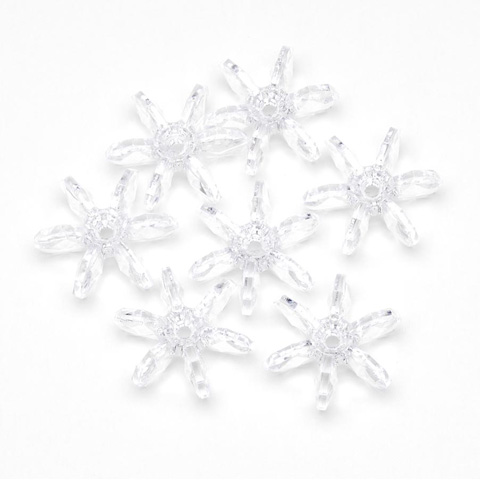 Starflake Beads - Crystal - 18mm - 500 pieces