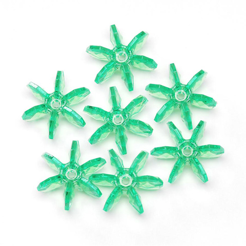 Starflake Beads - Transparent Mint - 18mm - 500 pieces