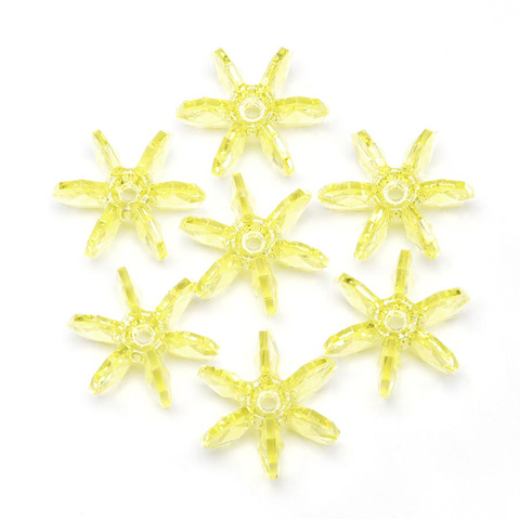Starflake Beads - Transparent Yellow - 18mm - 500 pieces
