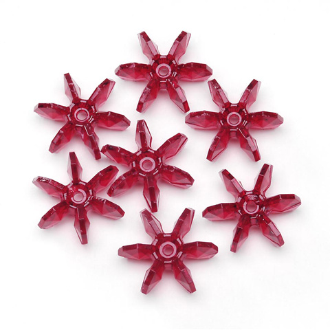 Starflake Beads - Transparent Ruby - 18mm - 500 pieces