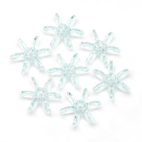 Starflake Beads - Transparent Sea Mist - 18mm - 500 pieces