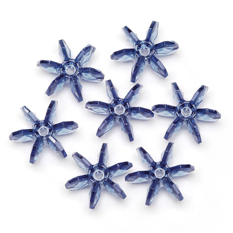 Starflake Beads - Transparent Country Blue - 18mm - 500 pieces