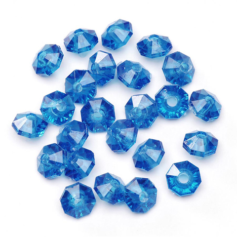 Plastic Beads - Faceted Rondelle - Dark Sapphire - 6mm - 1000 pieces