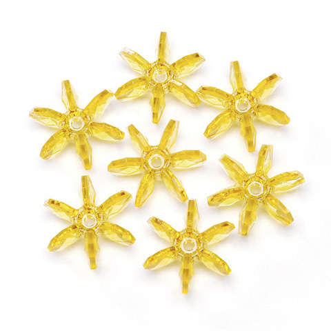 Starflake Beads - Transparent Sun Gold - 25mm - 144 pieces