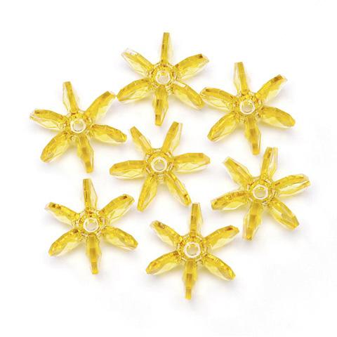 Starflake Beads - Transparent Sun Gold - 25mm - 144 pieces