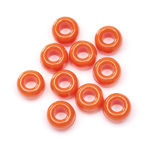 Pony Beads - Orange - 6 x 9mm - 720 pieces