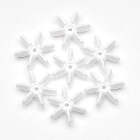 Starflake Beads - Opaque White - 10mm - 1000 pieces