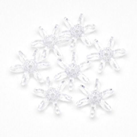 Starflake Beads - Crystal - 10mm - 1000 pieces