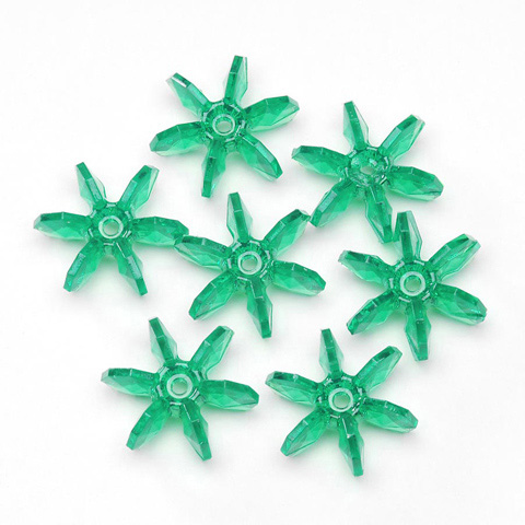 Starflake Beads - Transparent Christmas Green - 10mm - 1000 pieces