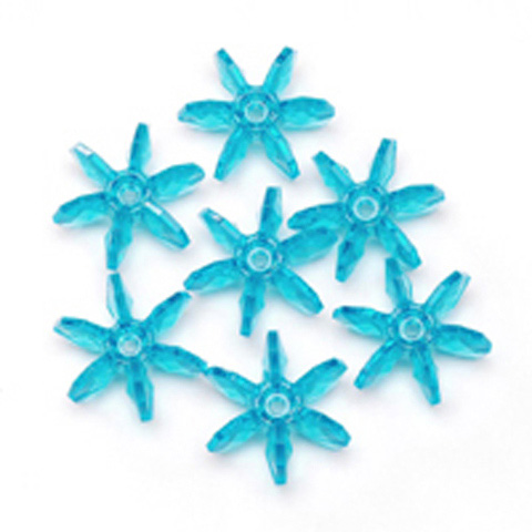 Starflake Beads - Transparent Turquoise - 12mm - 1000 pieces