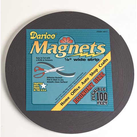 Magnet Strips - Adhesive Back - 100 ft
