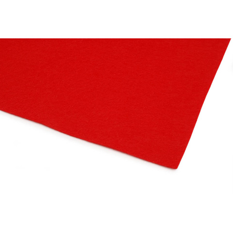 10087-30E Kunin™ Eco-Fi® Classicfelt™ - Red - 9 x 12 inches - Made in USA