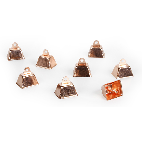 Cowbell - Copper - 1.25 inches - 12 pieces