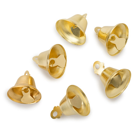 Liberty Bell - Gold - 3/4 inch - 6 pieces
