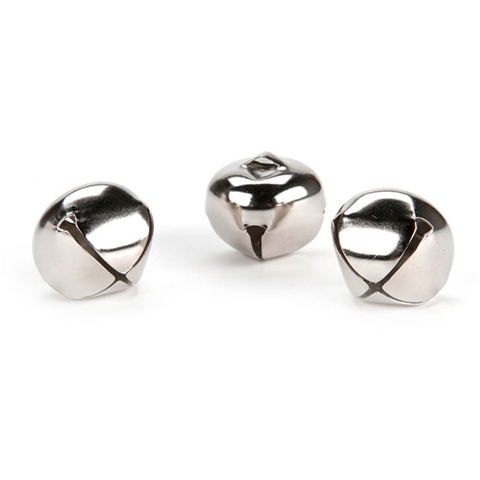 Jingle Bells - Silver - .5 inch - 144 pieces