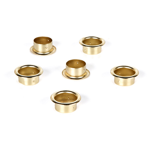 Candle Holder - Brass - 6 piece pack