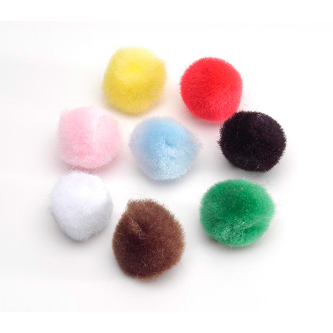 Acrylic Pom Poms - Multi Color - .5 inch - 100 pieces