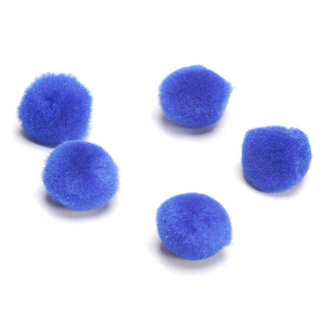 Acrylic Pom Poms - Royal Blue - .5 inch - 100 pieces