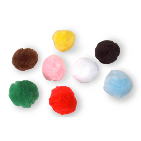 Acrylic Pom Poms - Multi Color - 2 inches - 8 pieces