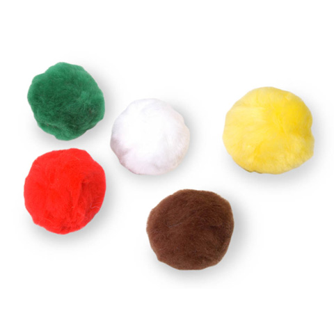 Acrylic Pom Poms - Multi Color - 2.5 inches - 5 pieces