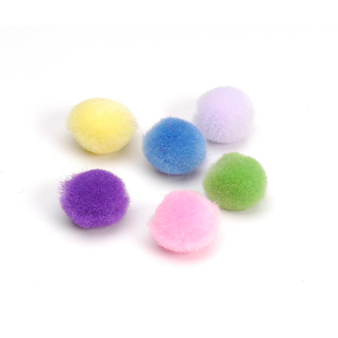 Acrylic Pom Poms - Spring Colors - 1/4 inch - 100 pcs