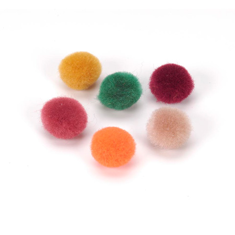 Acrylic Pom Poms - Fall Colors - 1/4 inch - 100 pcs