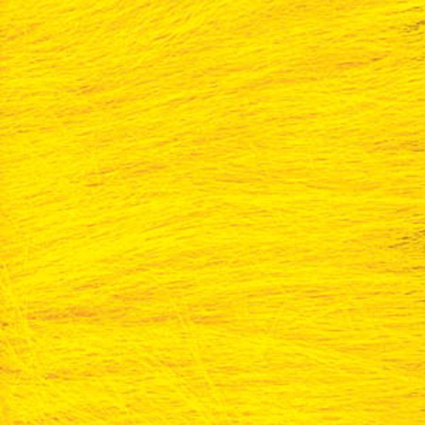 Long Pile Fur - Yellow - 9 x 12 inches