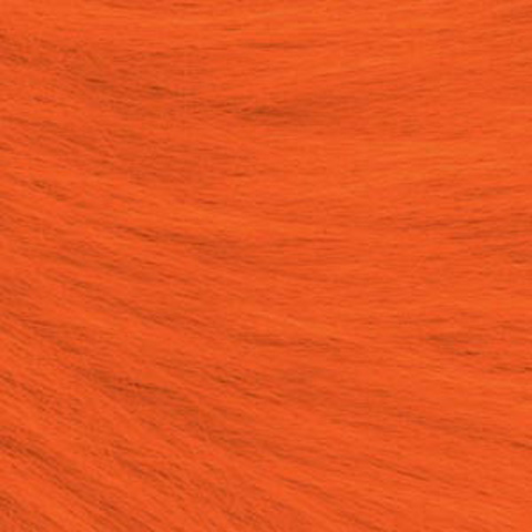Long Pile Fur - Orange - 9 x 12 inches