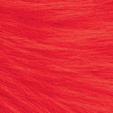 Long Pile Fur - Red - 9 x 12 inches
