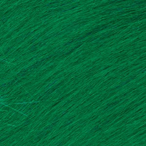 Long Pile Fur - Kelly Green - 9 x 12 inches