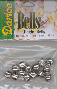 Jingle Bells 3/8 inch Silver DWO