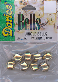 Jingle Bells 1/2 inch Gold DWO