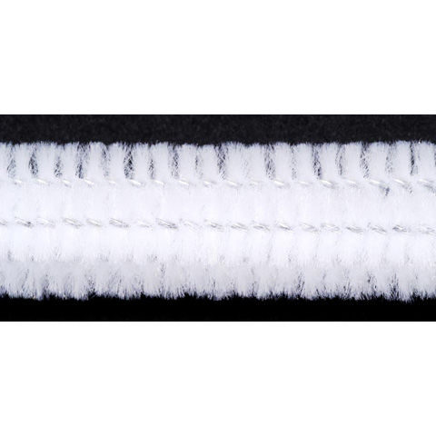 Chenille Stems - 6mm - White - 25 pieces