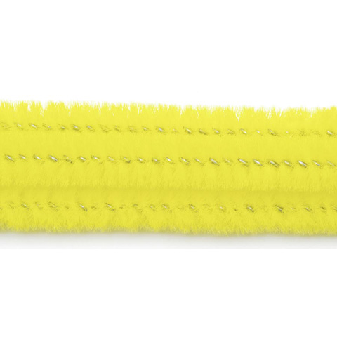 Chenille Stems - 6mm - Yellow - 25 pieces