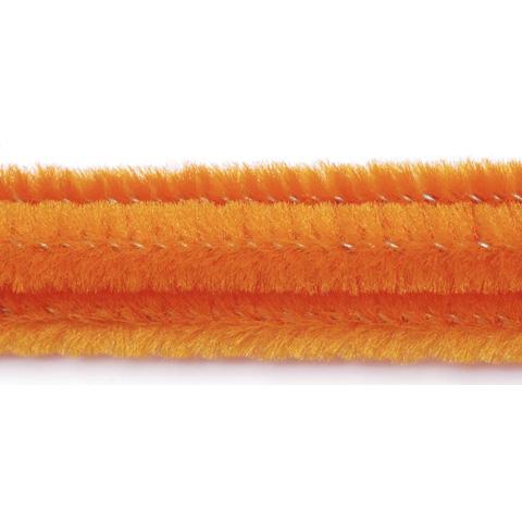 Chenille Stems - 6mm - Orange - 25 pieces