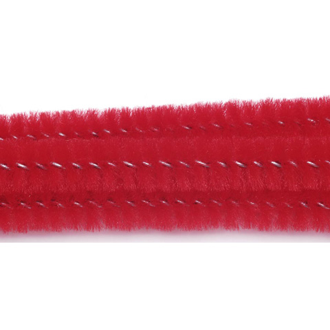 Chenille Stems - 6mm - Red - 25 pieces